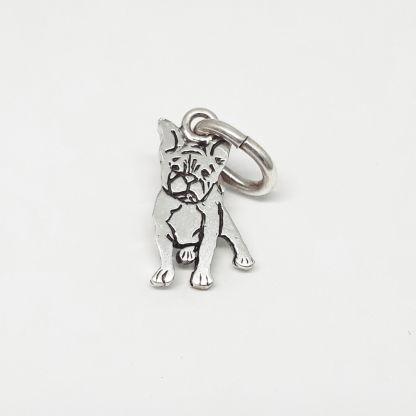Sterling Silver French Bulldog Charm - Goldfish Jewellery Design Studio