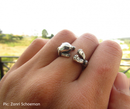 Sterling Silver Wraparound Bunny Ring - Goldfish Jewellery Design Studio. Pic_ Zanri Schoeman
