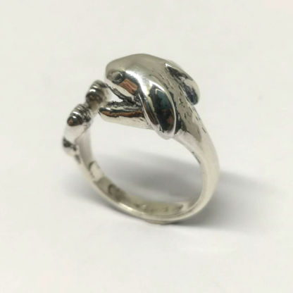 Sterling Silver Wraparound Bunny Ring - Goldfish Jewellery Design Studio