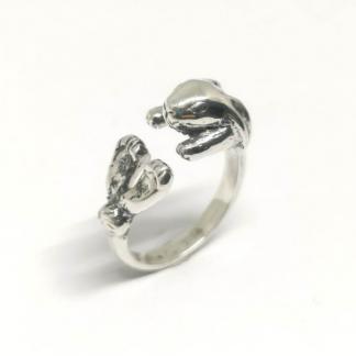 Sterling Silver Wraparound Bunny Ring - Goldfish Jewellery Design Studio