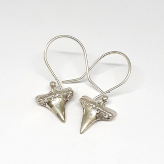 sterling silver shark tooth earrings - goldfish jewellery design studio