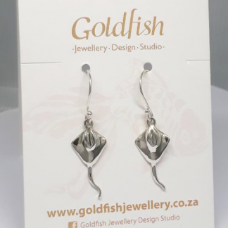 sterling silver stingray earrings - goldfish jewellery design studio