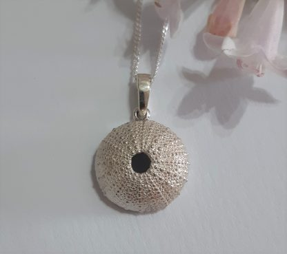 Sterling Silver Medium Pendant/Charm on a curb chain