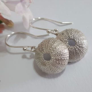 Sterling Silver Medium Sea Urchin hook Earrings