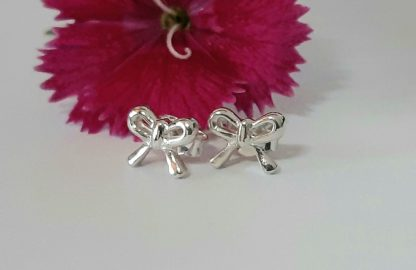 Sterling Silver Dainty Bow Studs