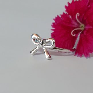 Sterling Silver Small Bow Stack Ring