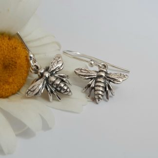 Silver Queen Bee Earrings